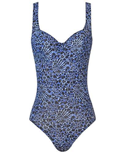 Solar Tan Thru Bügel-Badeanzug blau/schwarz, Gr. 40 B-Cup