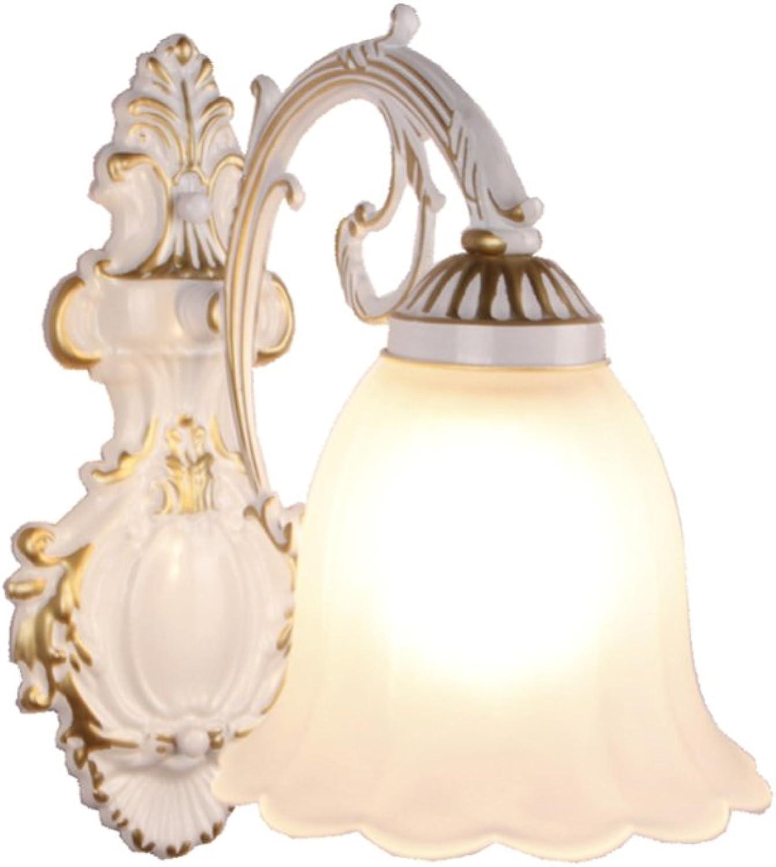 CDREAM Wandleuchte Im Europischen Stil Kreative Einfachheit TV-Hintergrund-Wand-Treppenhaus-Ganglichter Badezimmer-Spiegel-Frontseite Einzelne LED-Nachttischlampe Glas Wandlampe,1-A