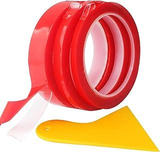 comprar comparacion RUNCCI-YUN 3 Rollos 9m Cinta adhesiva de doble cara resistente al agua,Cinta adhesiva de doble cara de acrílico,transparen...