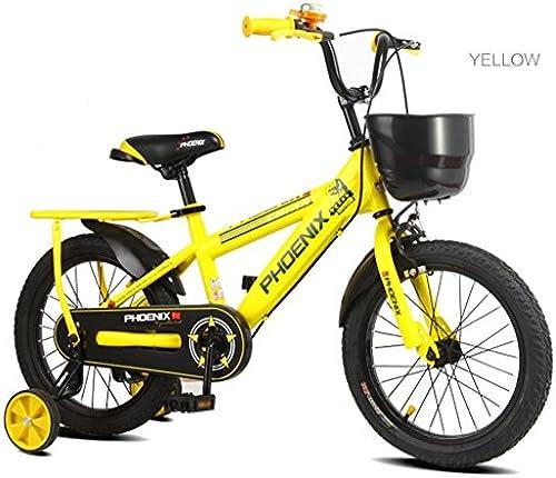 Kinder fürrad Kinder Pedal fürrad Junge mädchen 2-10 Jahre alt Outdoor Mountain Bike A+ (Farbe   Gelb, Größe   16 inches)