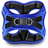 metric USA Comfort fit Dog Harness Easy to Put-on Comfortable Soft Padded Adjustable Step in Pet Vest Harnesses for Small and Medium Dogs Under 30 lbs, Blue, S, Chest 16-18'