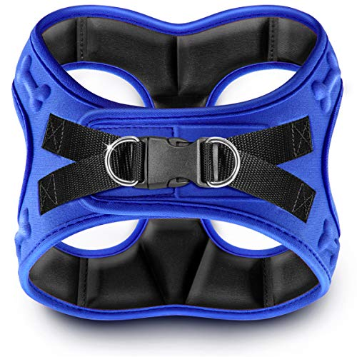 metric USA Comfort fit Dog Harness Easy to Put-on Comfortable Soft Padded Adjustable Step in Pet Vest Harnesses for Small Dogs Under 25 lbs, Blue, XS, Chest 14-16