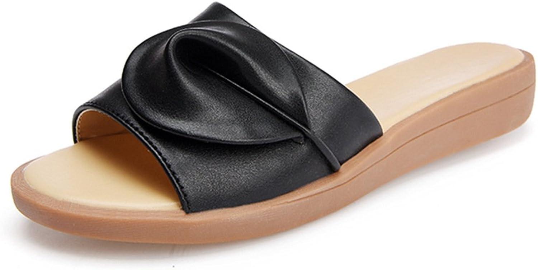 Women Wedge Flip Flops Sandals,Summer Buckle Peep Toe Designer Flat Beach Slipper shoes