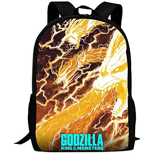 Bookbag,Thunder Monster Ghidorah Printing Travel Bags For Gym Athletic Running