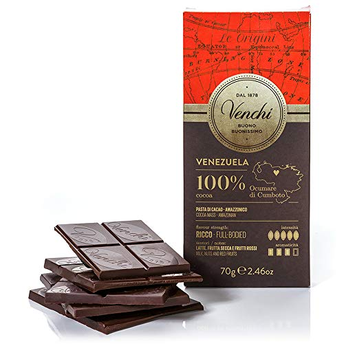 Tavoletta di Cioccolato Fondente 100% Venezuela 70g - Cioccolato Monorigine - Senza Glutine