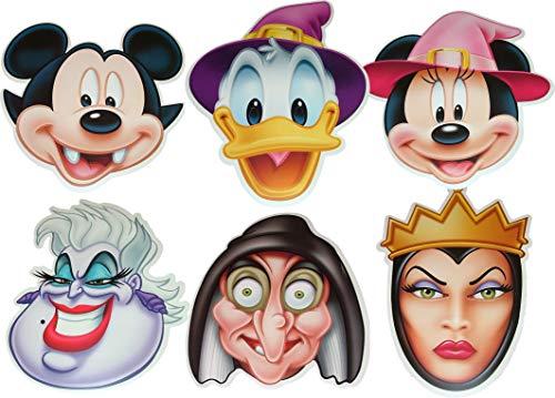 Halloween Masques pour Le Visage de Disney - Multipack - 6 Masques de Costumes différents fabriqués à partir d'une Carte Rigide - Produit Disney Officiel