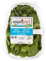 Organicgirl Baby Spinach Greens, 10 oz Clamshell