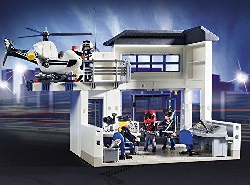 Poste de Police Playmobil 9372 Voiture Hélicoptère - 3