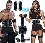 ROOTOK Electrostimulateur Musculaire,Ceinture Abdominale Electrostimulation, 6 Modes 10 Niveaux pour Stimulateur...