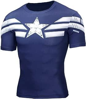 Long & Short Sleeve Captain America Winter Soldier Dri Fit Compression Shirt