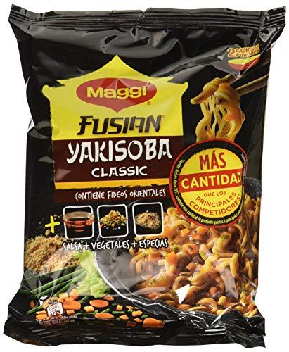 Maggi Fusian Yakisoba Noodles Classic - Fideos Orientales - Paquete de 8x120g - Total: 960g