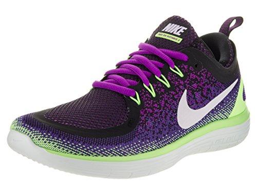 Nike Wmns Free RN Distance 2, Scarpe Running Donna, Viola (Hyper Violet/Dark Iris/Ghost Green/White), 38 EU