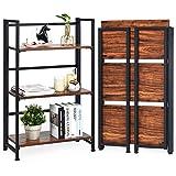 Giantex 3-Tier Folding Bookshelf Standing Shelf Units...