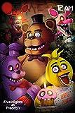 Grupo Erik Editores Five Nights At Freddys Poster, Madera, Varios, 74 x 44 x 3.5 cm