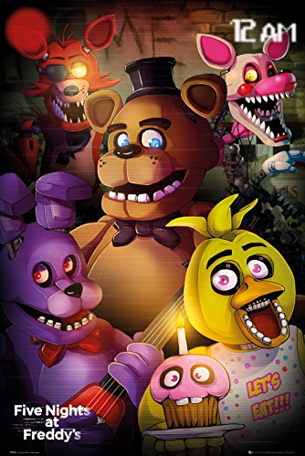 GB Eye Ltd Fünf Nächte in Freddys, Gruppe, Maxi Poster, 61x 91,5cm, verschiedene
