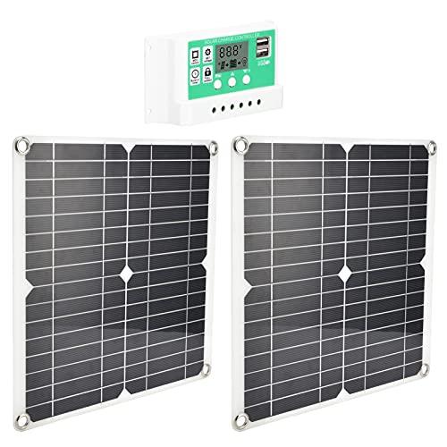 Panel solar de 2 piezas, módulo solar de placa de carga solar 10A 15W 20V para satélites de aeronaves, estación espacial, plantación, turismo