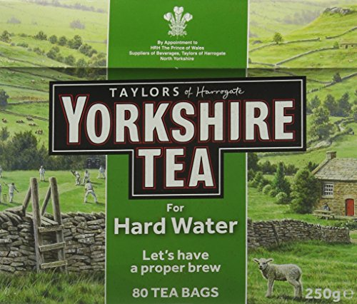 Yorkshire Tea Hard Water 80 Tea Bags (Pack of 10, total of 800 bags)