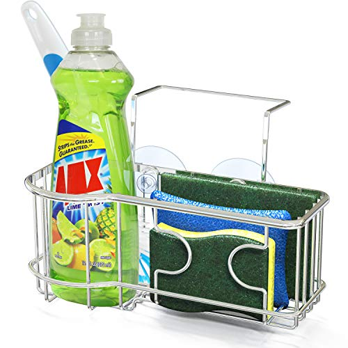 SimpleHouseware Kitchen Sink Caddy Organizer for Brush Sponge Holder
