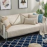 ENLAZY Rautenförmiges geometrisches Muster Sofakissen rutschfest Chenille Sofa Schonbezug für Hunde Katzen Pet Love Seat Recliner Wohnzimmer,Coffee,110 * 240