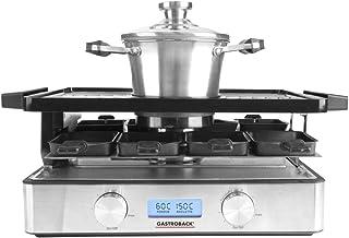 GASTROBACK 42562 Appareil à raclette Advanced Plus utilisable séparément ou combiné, écran LCD rétroéclairé, boîtier en ac...