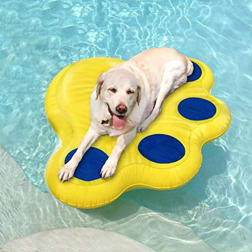 "Aboard Doggy Lazy Raft, Puncture Resistant Vinyl Dog Float, Perfect for The Lake, Pool, River & Boat – Large (50"" x 40"")"