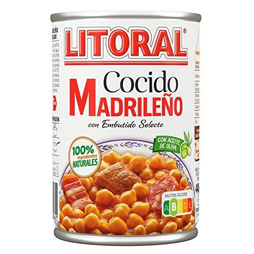 LITORAL Plato Preparado de Cocido Madrileño, Sin Gluten, 440g
