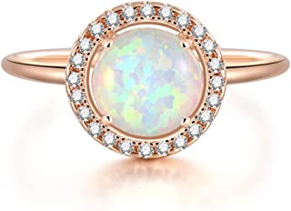 Best rose gold and opal ring Reviews