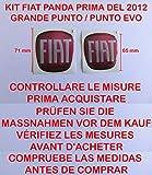 """Kit de adhesivos (1 delantero para el capó + 1 trasero para el maletero) con el logotipo de la casa automovilística """"Fiat"""". Adhesivos resinados de calidad 3M con efecto 3D"""