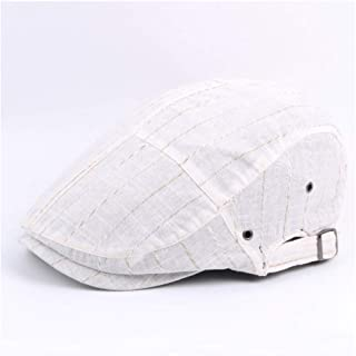 HaiNing Zheng Striped Beret Cap Autumn Cotton Thin Stitching Cap Vent Hole Beret Visor