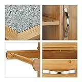 Relaxdays Küchenwagen Holz, Bambus, 4 Rollen, Arbeitsplatte aus Marmor, mit Schubladen, HBT: 85,5 x 89,5 x 36 cm, natur - 7