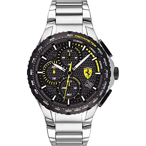 Scuderia Ferrari Reloj Analógico para Hombre de Cuarzo con Correa en Acero Inoxidable 0830729