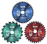 kwb Set di lame circolari per sega circolare 160 x 25/20/16 mm per seghe circolari per materiali da costruzione e materiali da costruzione in legno, con anelli riduttori da 16 e 20 mm