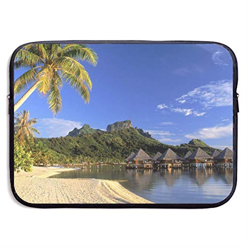 Moana Beach Bora Bora Soothing Paradise Laptop Sleeve Bag Case,Laptop Briefcase Soft Carring Tablet Travel Case,13 inch