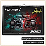 gasoline.gallery Formel 1 Kalender DINA2 extra groß Premium Artwork Wandkalender 2020 12 Monate inkl. extra Jahreskalender / Jahresübersicht