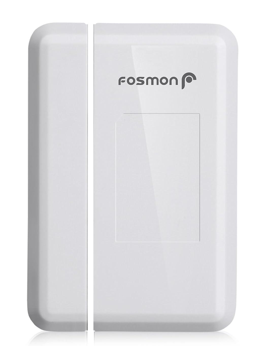 カイウスバリケードネズミFosmon 51018HOM ワイヤレス ドアチャイム ドアベル 送信機 (マグネットドア玄関チャイムセンサー | バッテリ駆動 | LEDライト) 送信機1個 (受信機 含まれていない)