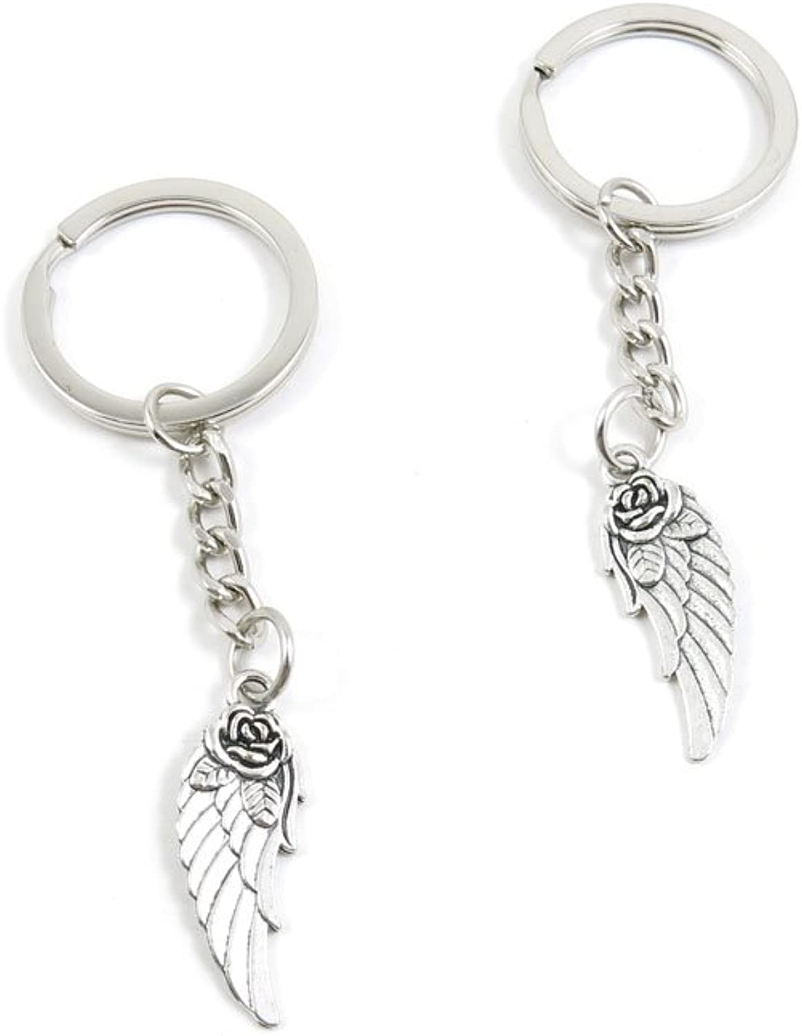 220 Pieces Fashion Jewelry Keyring Keychain Door Car Key Tag Ring Chain Supplier Supply Wholesale Bulk Lots O2JG1 Flower Angel Wing
