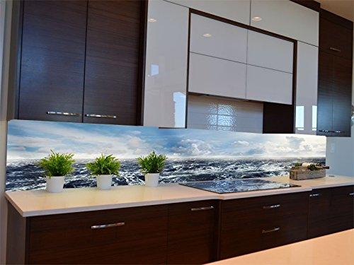 Dalinda® Küchenrückwand Küchenboard Küchenrückseite mit Design schäumende See KR124