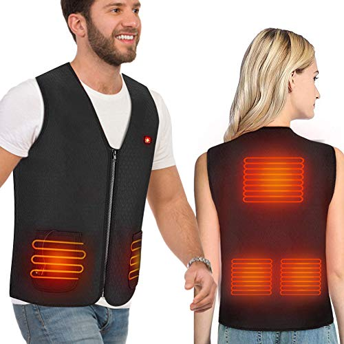 Heated Vest Electric Heated Jacket for Women Men, USB Charging Heated Clothing