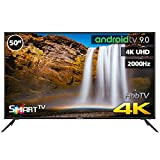 TV LED INFINITON 50' INTV-50MU2100 4K UHD 2000HZ - Smart TV - Android 9.0 - Reproductor y Grabador USB - HDMI - HbbTV