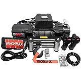 Winchmax 13,500lb (6,123kg) 'SL Series' Cabrestante eléctrico de grado militar de 12 V, cuerda de acero, control remoto inalámbrico doble