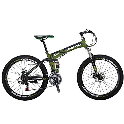 "Eurobike Mountain Bike G6 26"" 21 Speed Folding Bike (Green)"