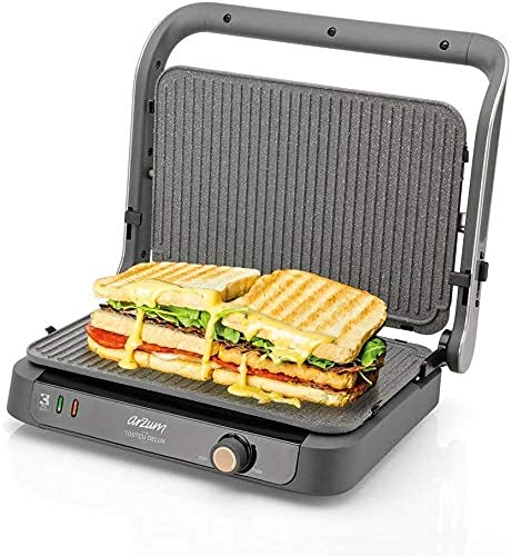 Arzum AR2001 TOSTCU Delux Grill and Sandwich Maker, Metal