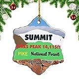 Weekino USA America Pikes Peak Colorado Springs Christmas Ornament Travel Souvenir Tree Hanging Pendant