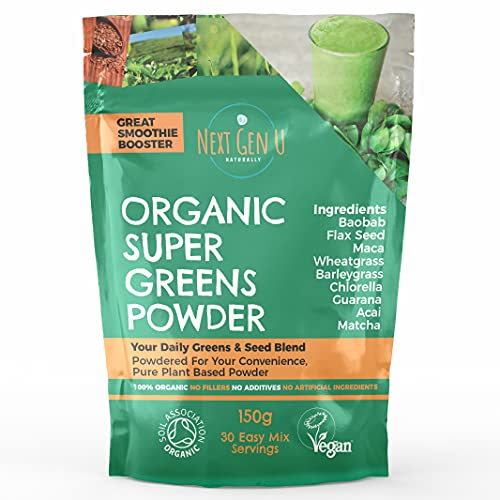 Organic Super Greens Powder 150g - Featured in The Vegan Magazine | Vegan...