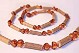 The Art of Cure Baltic Amber & Hazelwood Necklace (Honey) 17 Inches