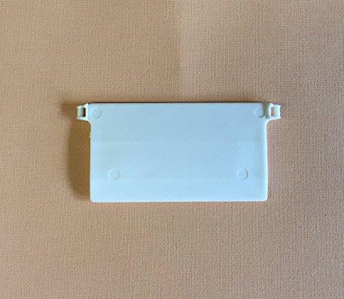 cg-sonnenschutz 10 Stück Beschwerungsplatten Breite 89 mm Gewichte für Vertikaljalousie Lamellen Vorhang Vorhang-Lamellen weiß aus Kunststoff