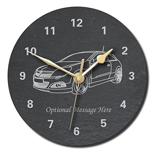notts laser Opel Astra Sport Luke Design Schieferuhr – Personalisierbar mit Wunschtext (Medium 200 mm)