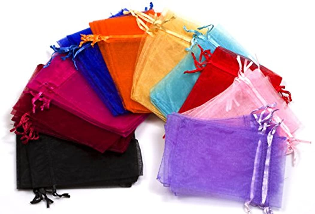 EDENKISS 50pc 6x9 Inches Organza Mixed Colors Jewelry Pouch Bags Display, MIXED