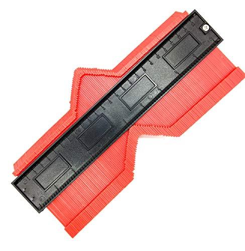 型取りゲージ コンターゲージ 測定ゲージ 不規則な測定器 輪郭ゲージ 曲線定規 DIY用測定工具 角度測定 多機能 カーペットの敷設 タイル取り付け 500mm 250mm 140mm 120mm (250mm(赤))