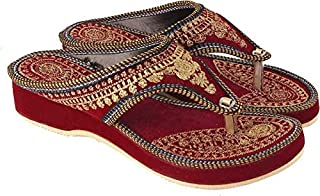 Rajasthan Crafts House Ethnic Embroidered Wedges for Women and Girls